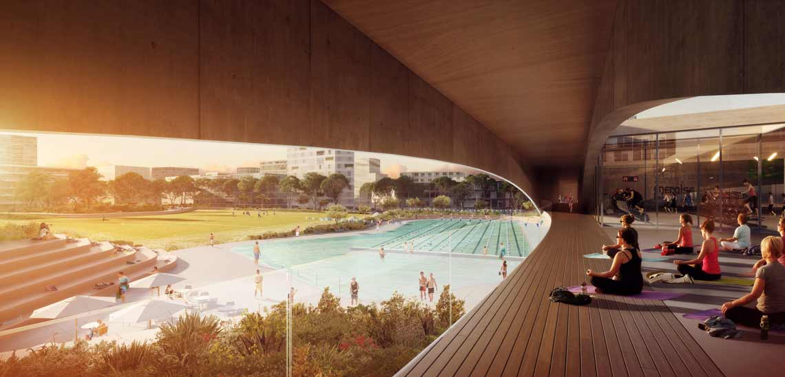 Green Square Design Competition Gunyama Park And Aquatic Centre