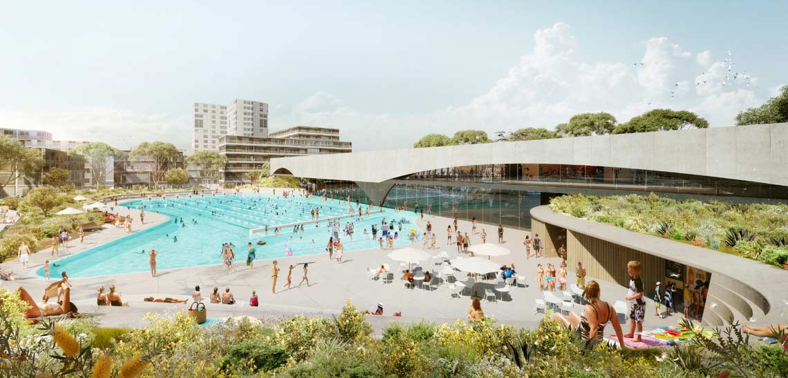 Green square design competition gunyama park and aquatic for Pool design sydney